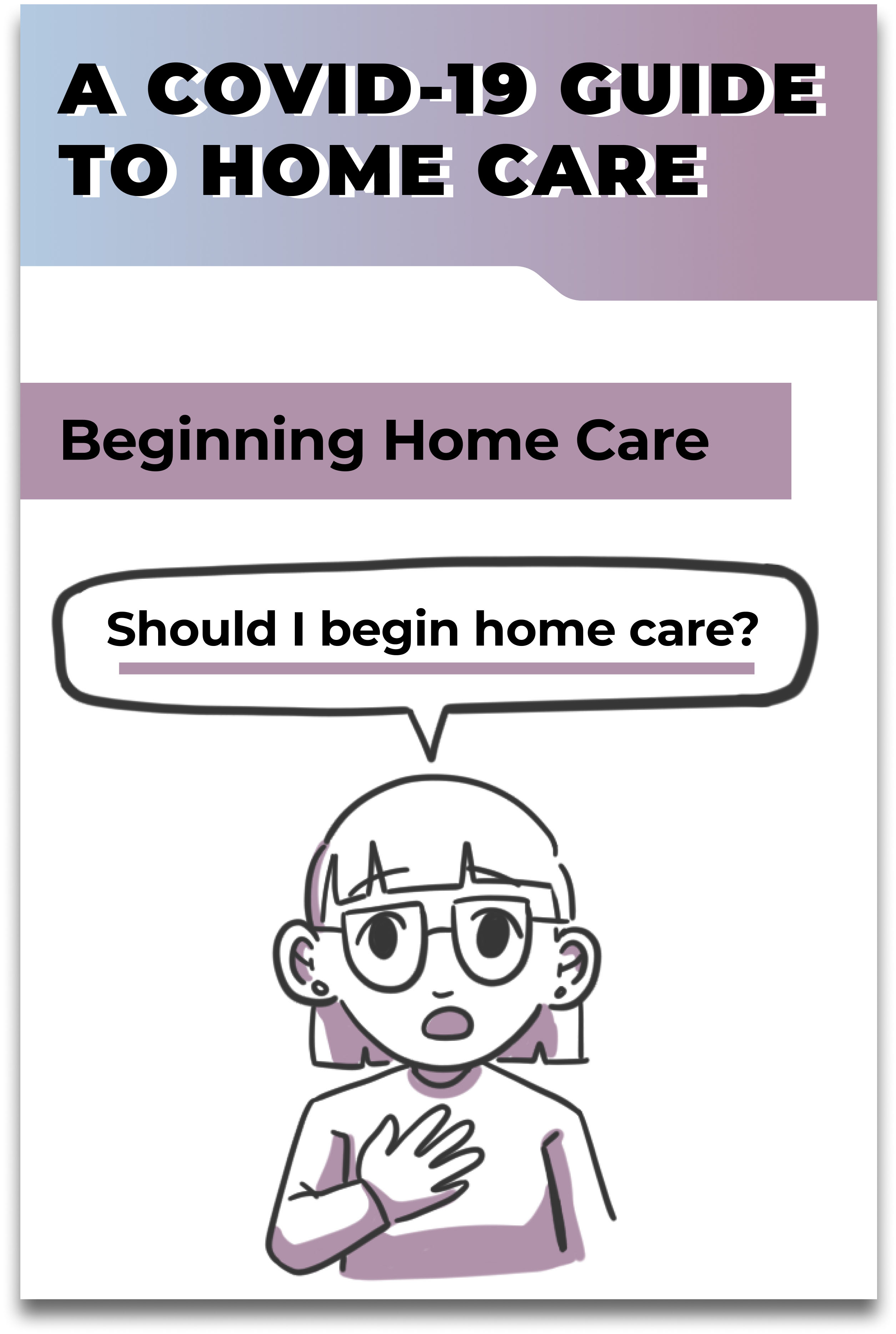 The cover of 'A COVID-19 Guide to Home Care' comic.